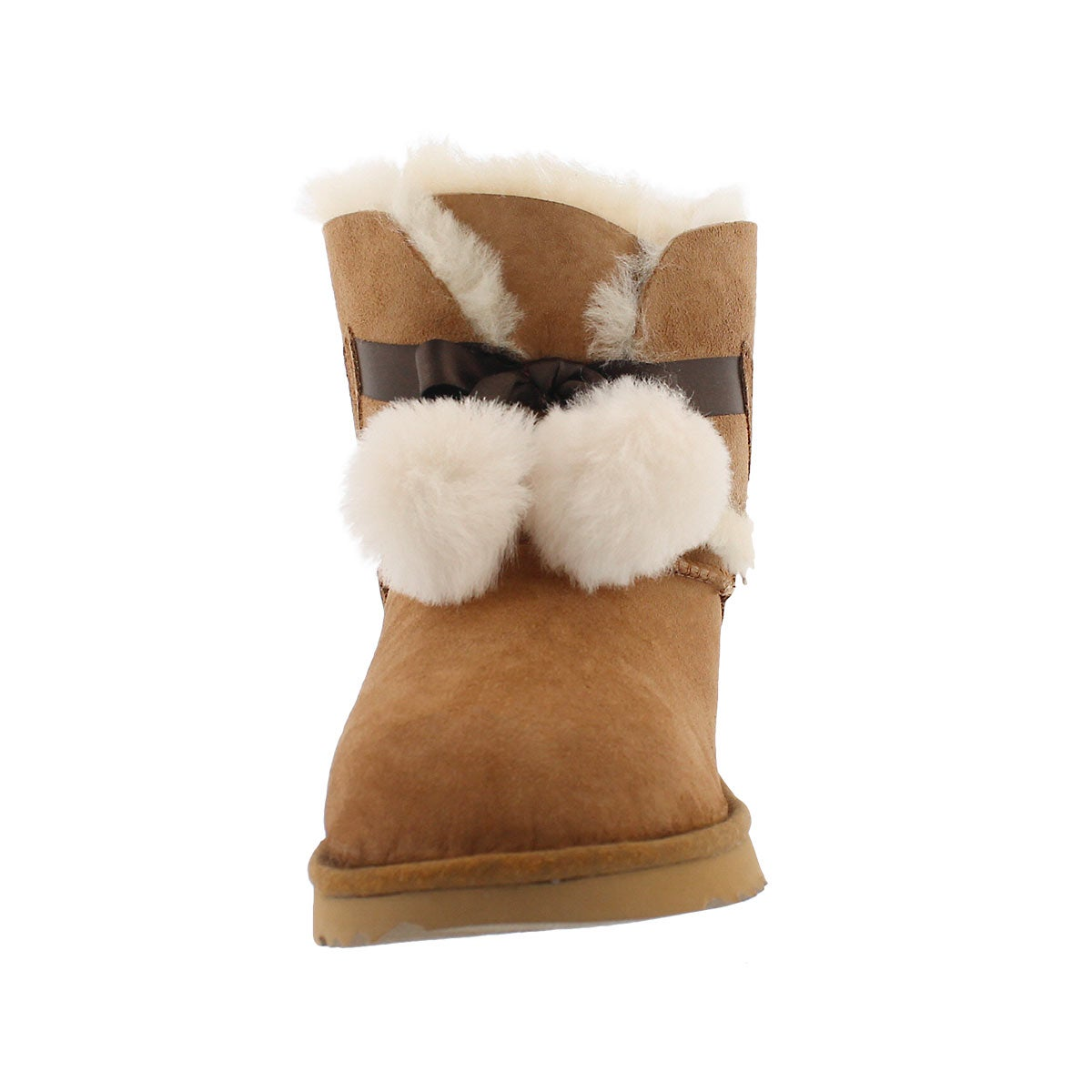Grls Gita ches pom pom sheepskin boot