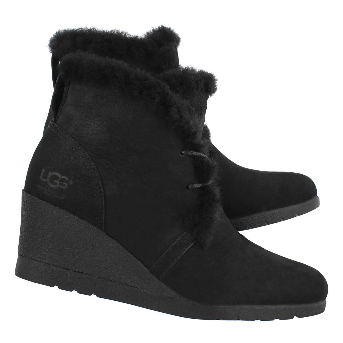 21281701bfb Details about UGG Australia Women's Jeovana Lace Up Waterproof Wedge Boot