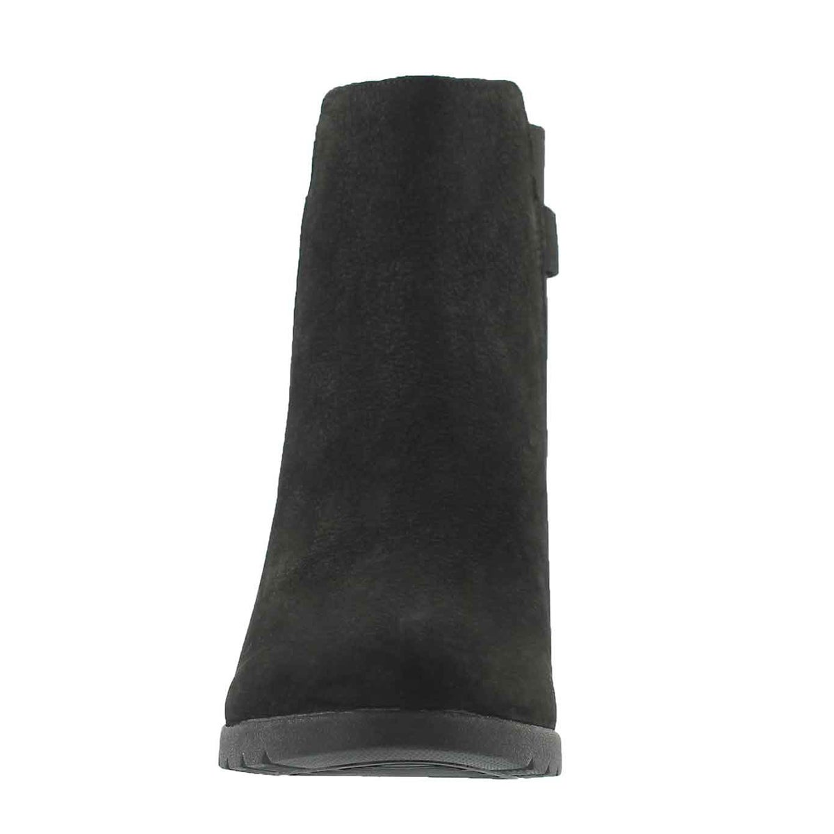 Lds Indra black wtpf wedge ankle boot