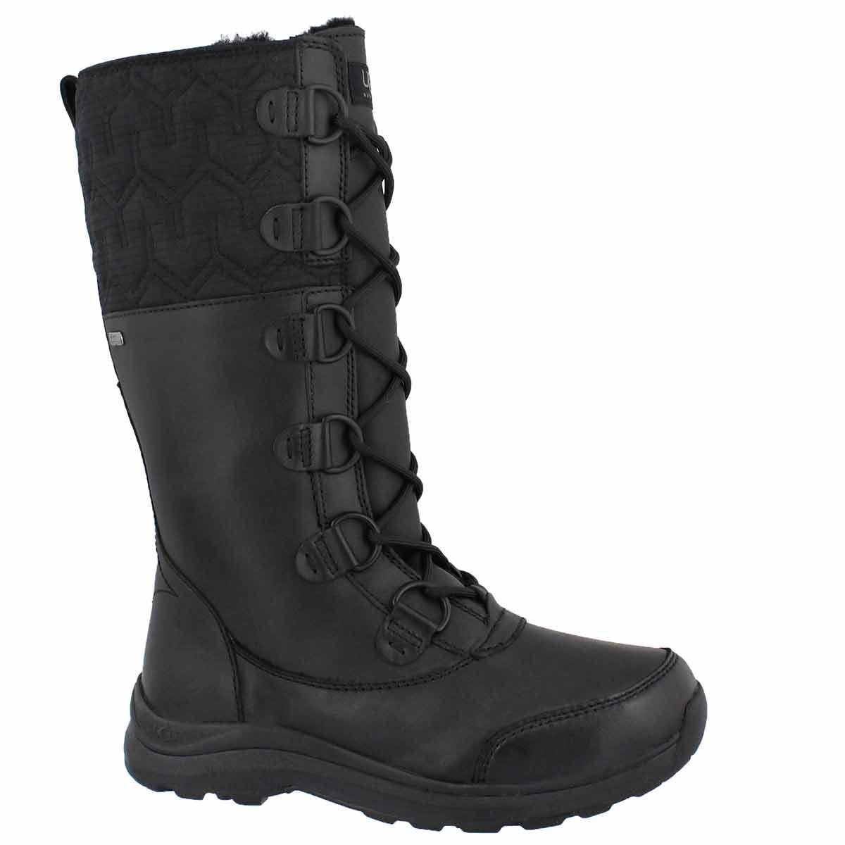 Women's ATLASON black tall waterproof winter boots