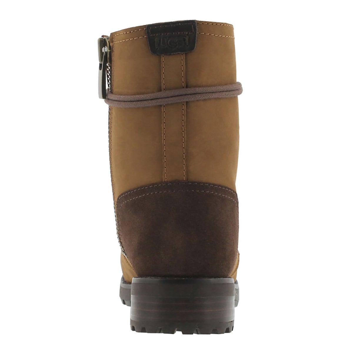 Lds Kilmer chestnut lace up combat boot