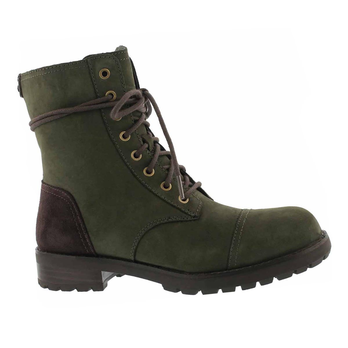 Women's KILMER slate lace up combat boots