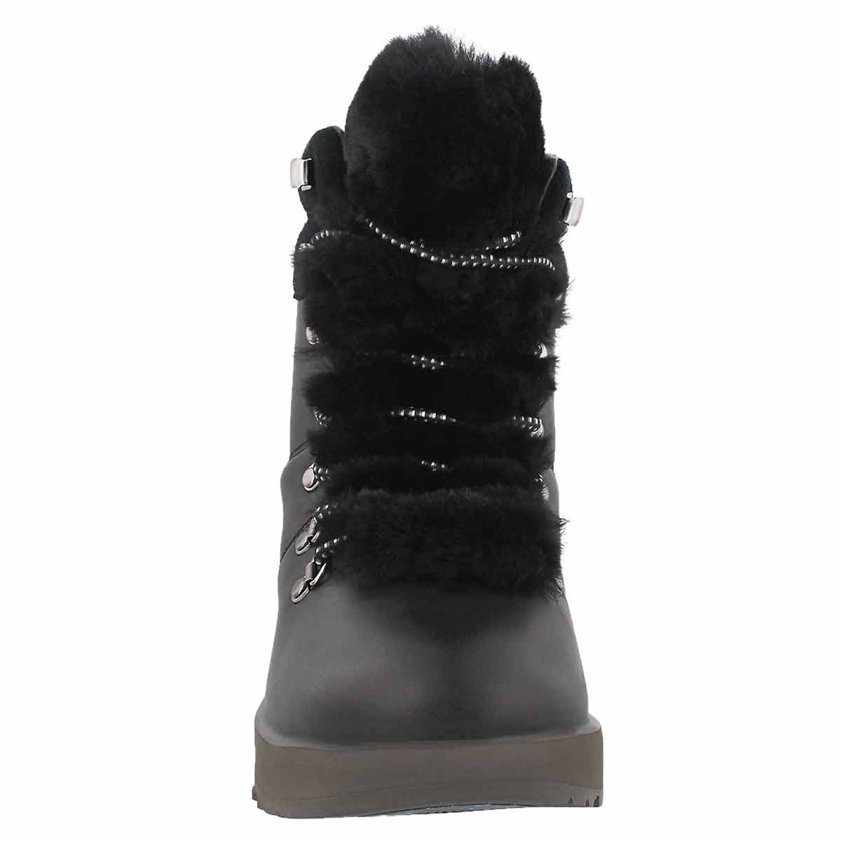 Lds Viki black wtpf laceup ankle boot