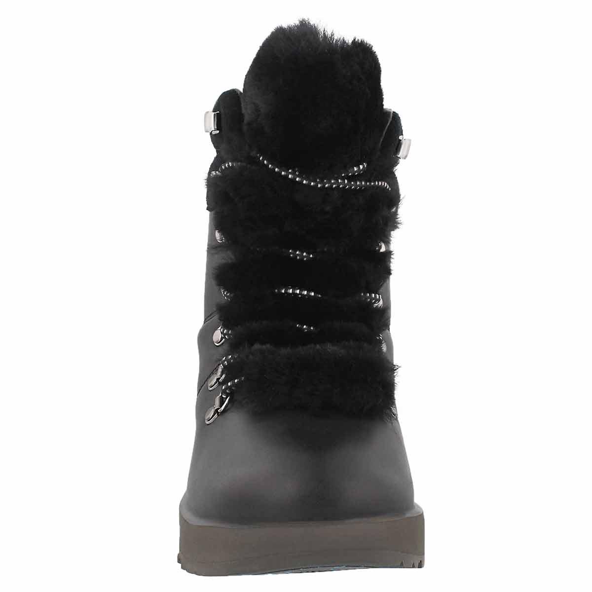 c996f7ea21d Women's VIKI black waterproof laceup ankle boots