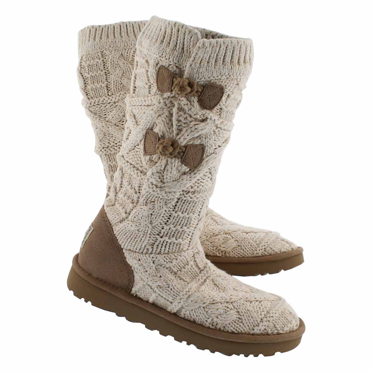 Lds Classic Kalla fawn cable knit boot
