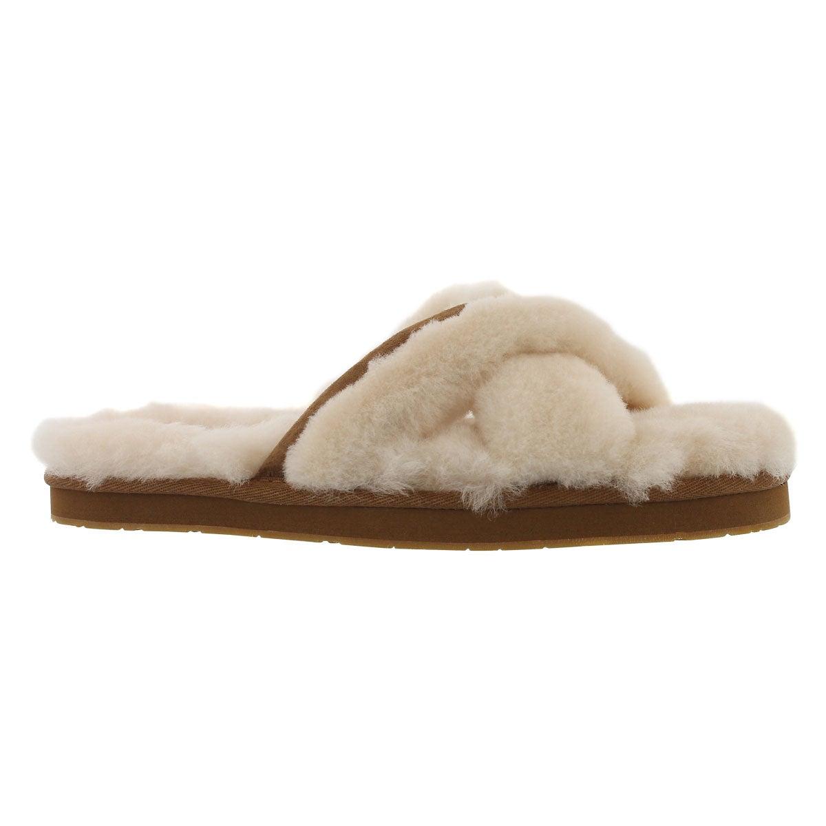 Lds Abela natural sheepskin slipper