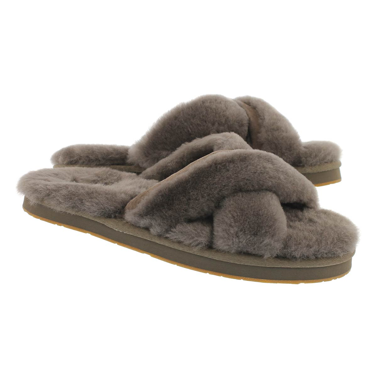 Lds Abela slate sheepskin slipper