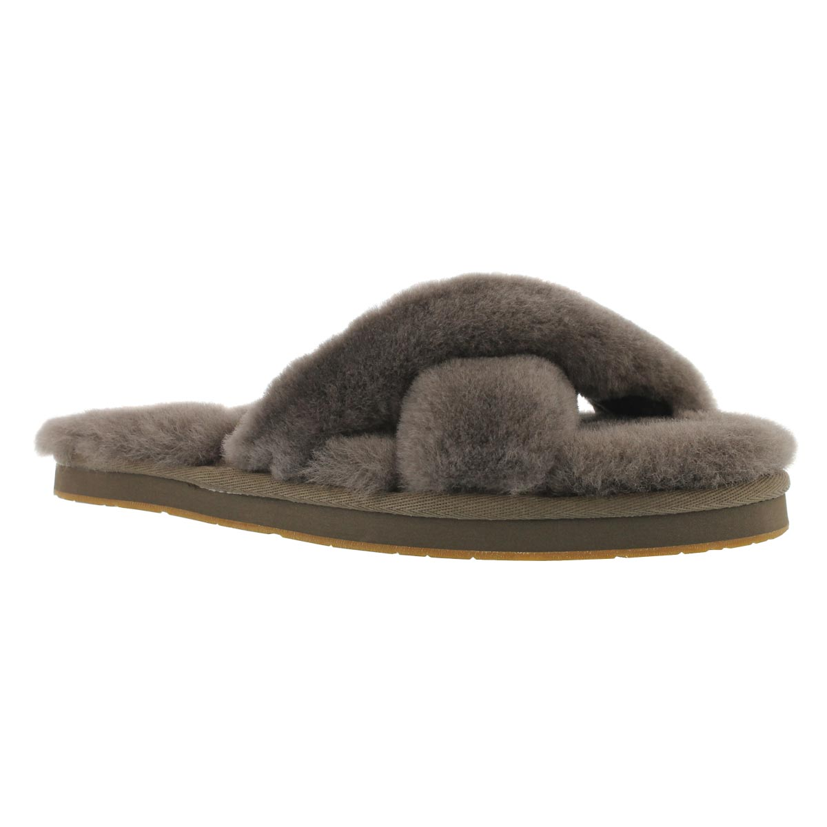 Women's ABELA slate sheepskin slippers
