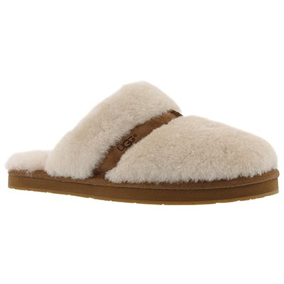 Lds Dalla natural sheepskin slipper