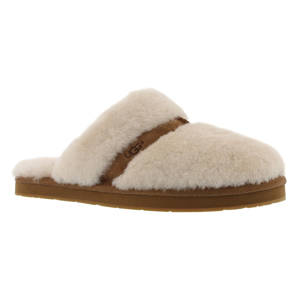 Women's DALLA natural sheepskin slippers