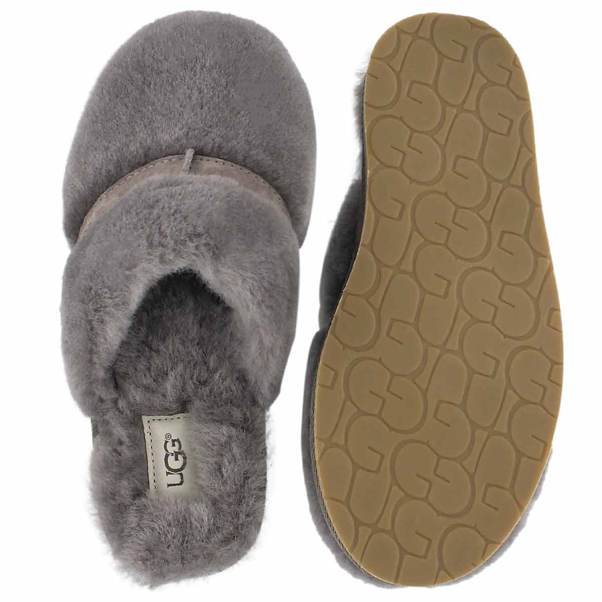 Lds Dalla slate sheepskin slipper