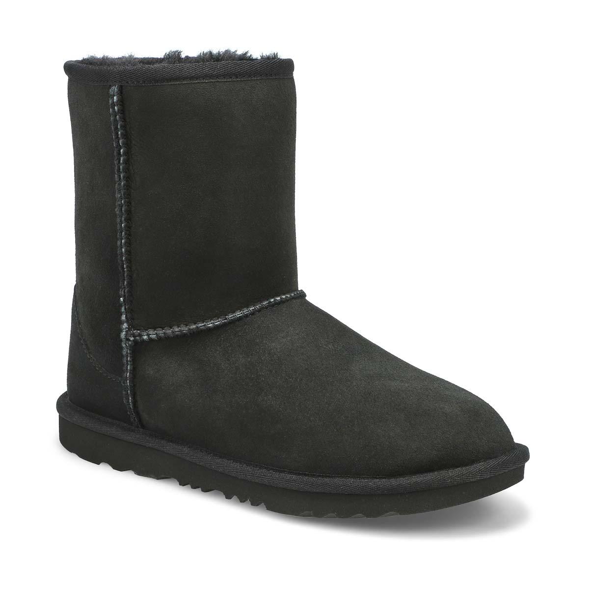Grls Classic II black sheepskin boot