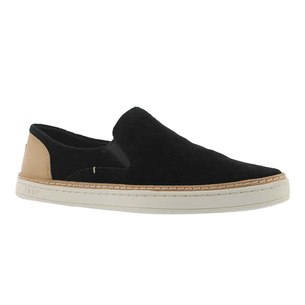 Women's ADLEY PERFORATED black casual slip ons
