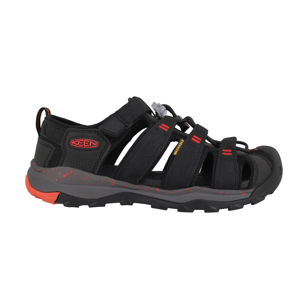 Bys Newport Neo H2 blk/firey red sndl