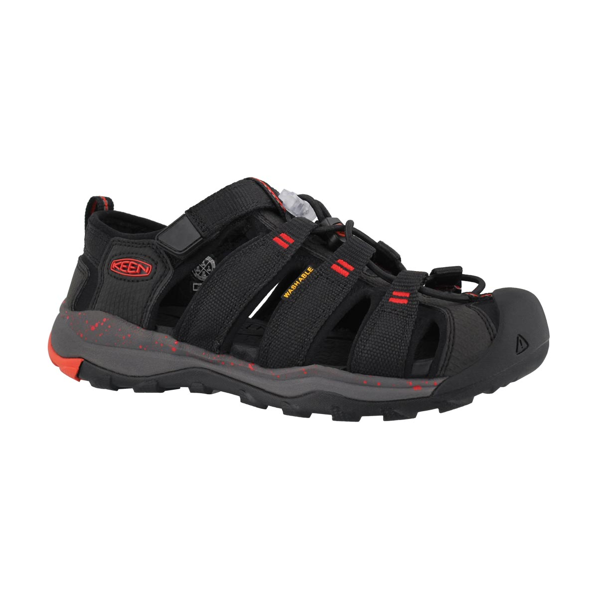 Boys' NEWPORT NEO H2 blk/firey red sandals