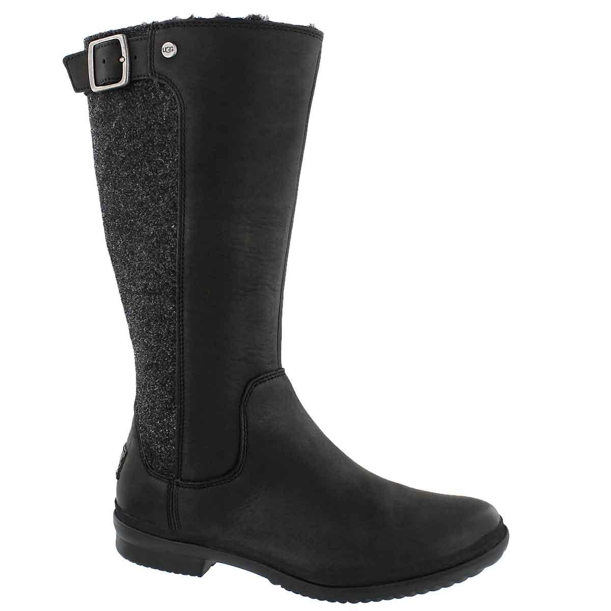 Women's JANINA black wtpf knee high boots