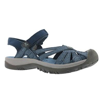 Sandale sport Rose, opale bleue, femme