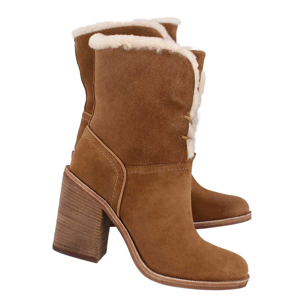 Lds Jerene chestnut casual mid calf boot