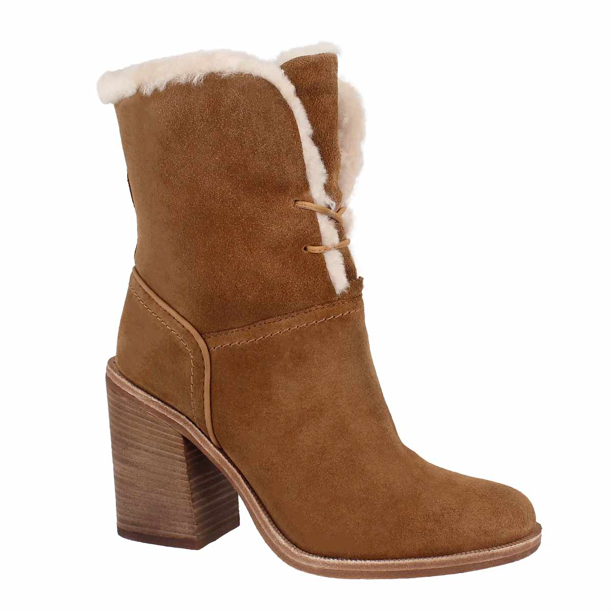 Women's JERENE chestnut casual mid calf boots