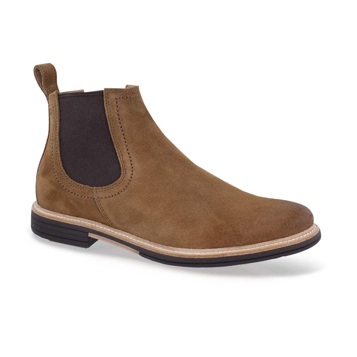 Men's BALDVIN chestnut double gore chelsea boots