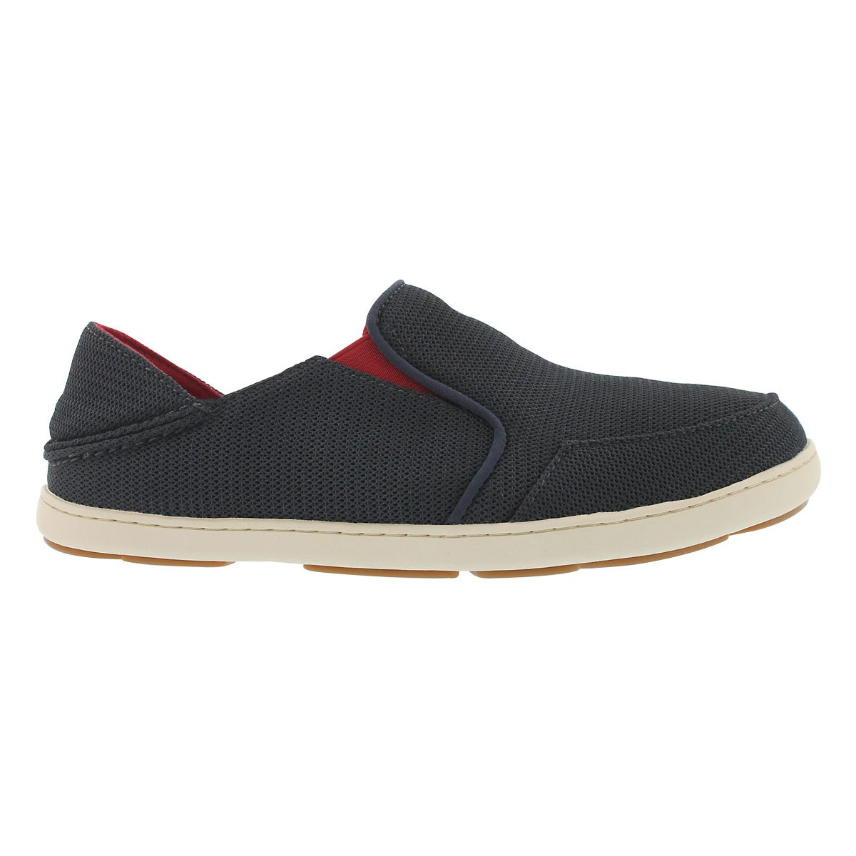 Mns NoheaMesh crbn/rd slipon casual shoe