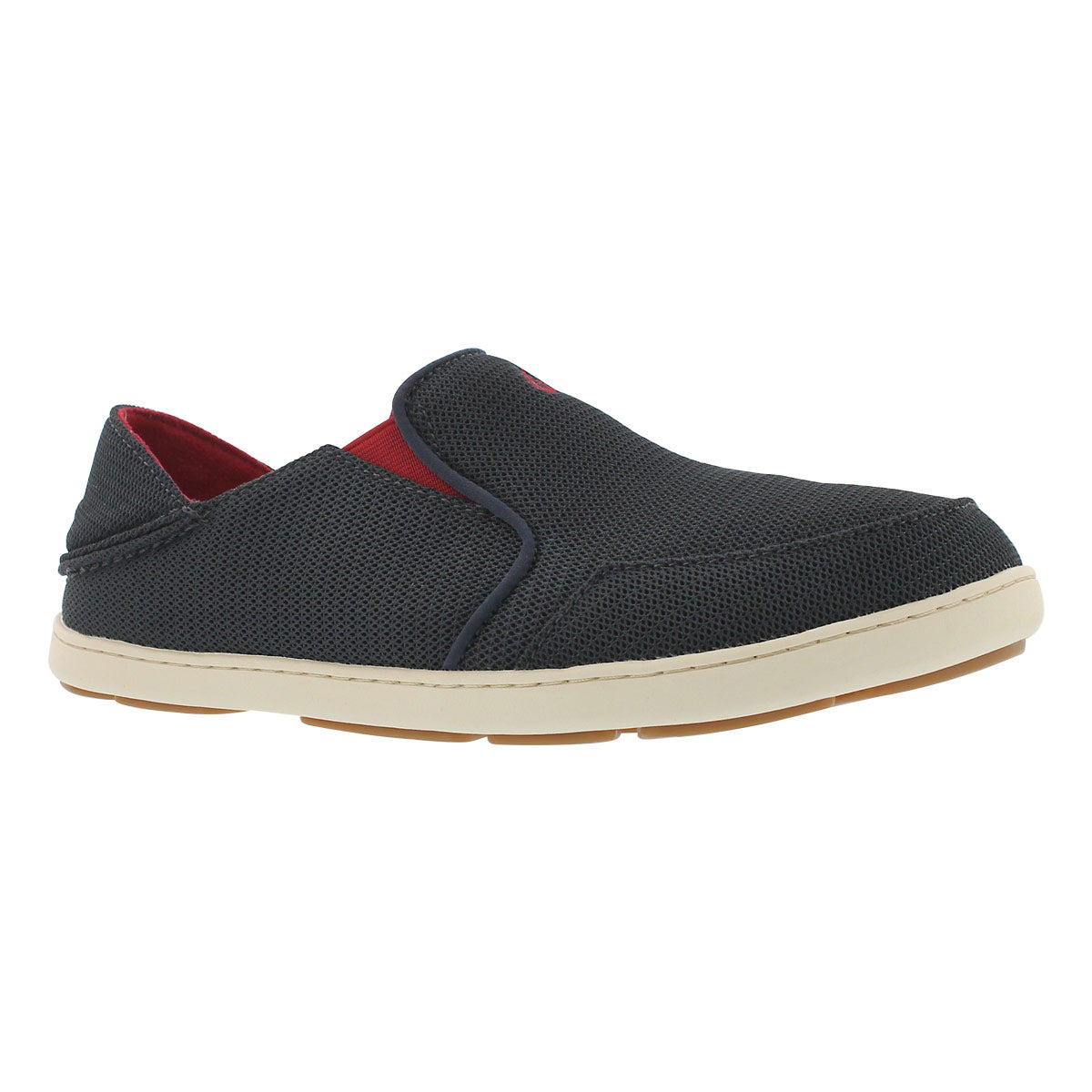 Men's NOHEA MESH carbon/red  slip on casual shoes