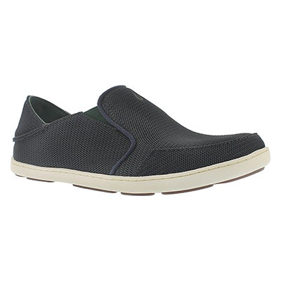 OluKai Men's NOHEA MESH carbon slip on casual shoes