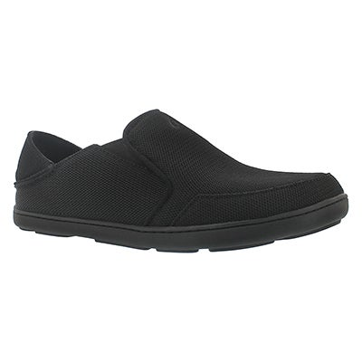 OluKai Men's NOHEA MESH onyx slip on casual shoes