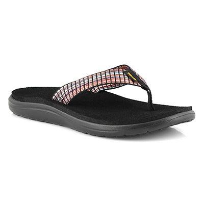 Lds Voya Flip multi/blk casual sandal