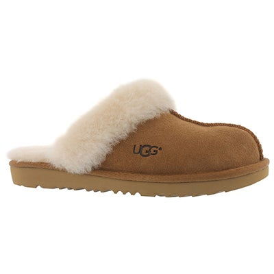 Grls Cozy II chestnut sheepskin slipper