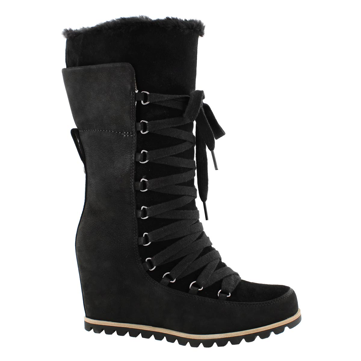 Lds Mason black lace up casual boot