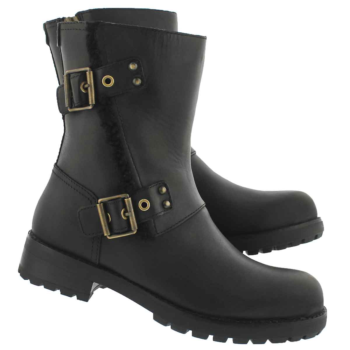 Lds Niels black zip up ankle boot