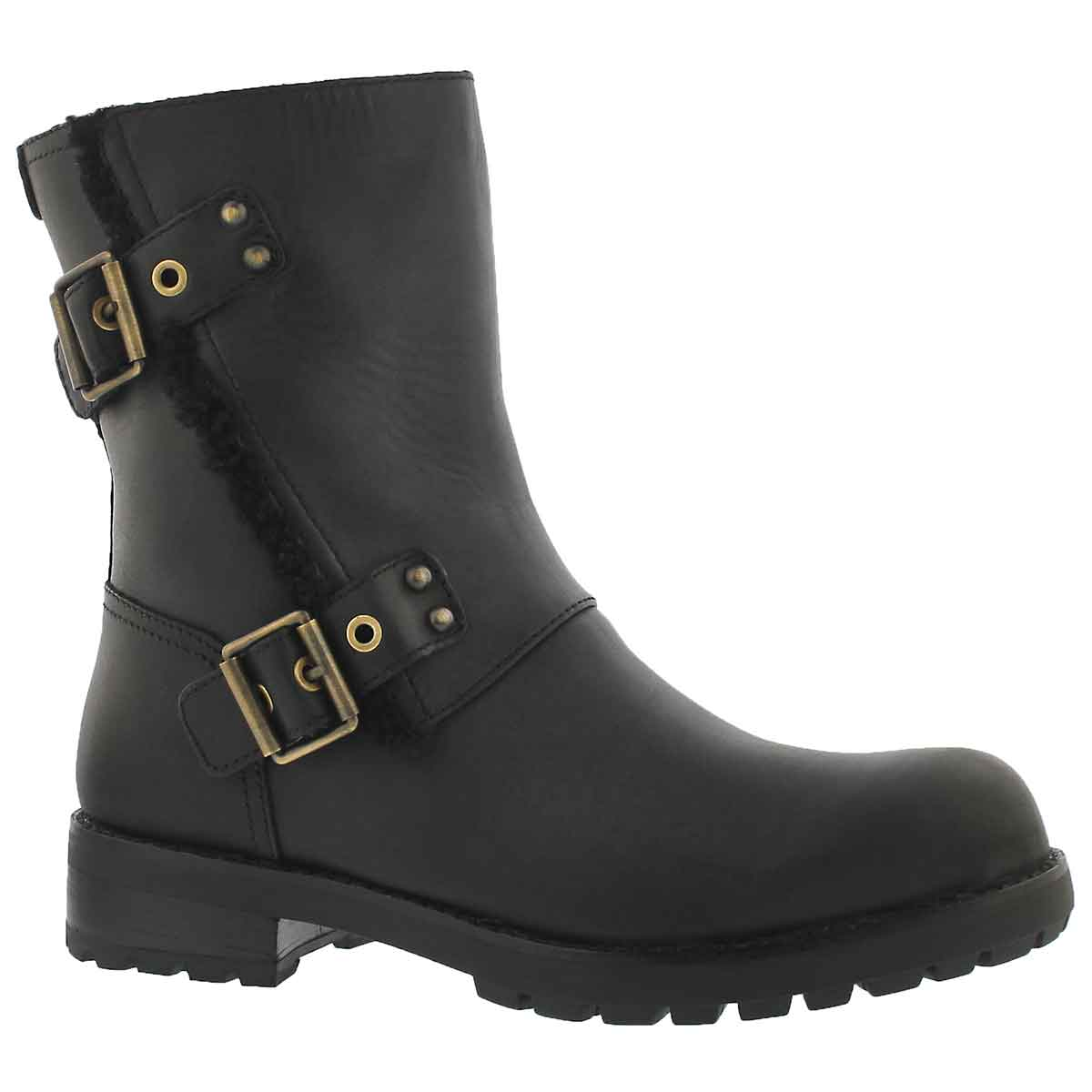Women's NIELS black zip up ankle boots