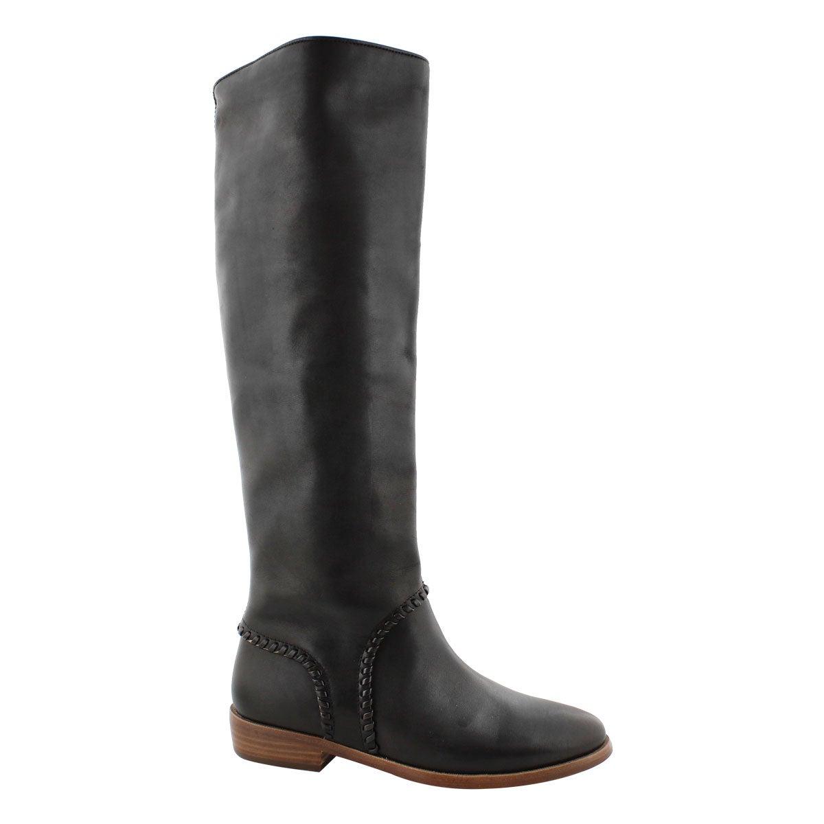 Lds Gracen Whipstitch black rain boot