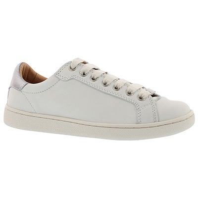 Lds Milo white lace up casual oxford