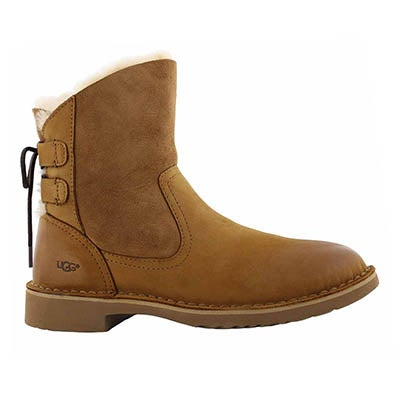 Lds Naiyah ches back lace sheepskin boot