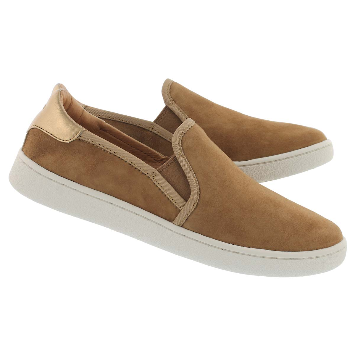 Lds Cas chestnut casual slip on shoe