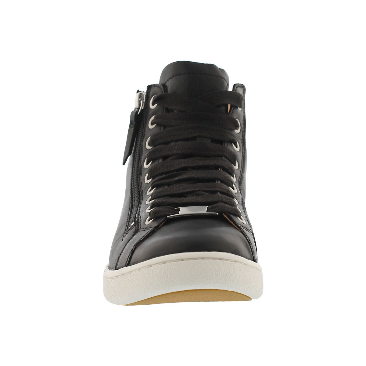 Lds Olive black lace up high top sneaker