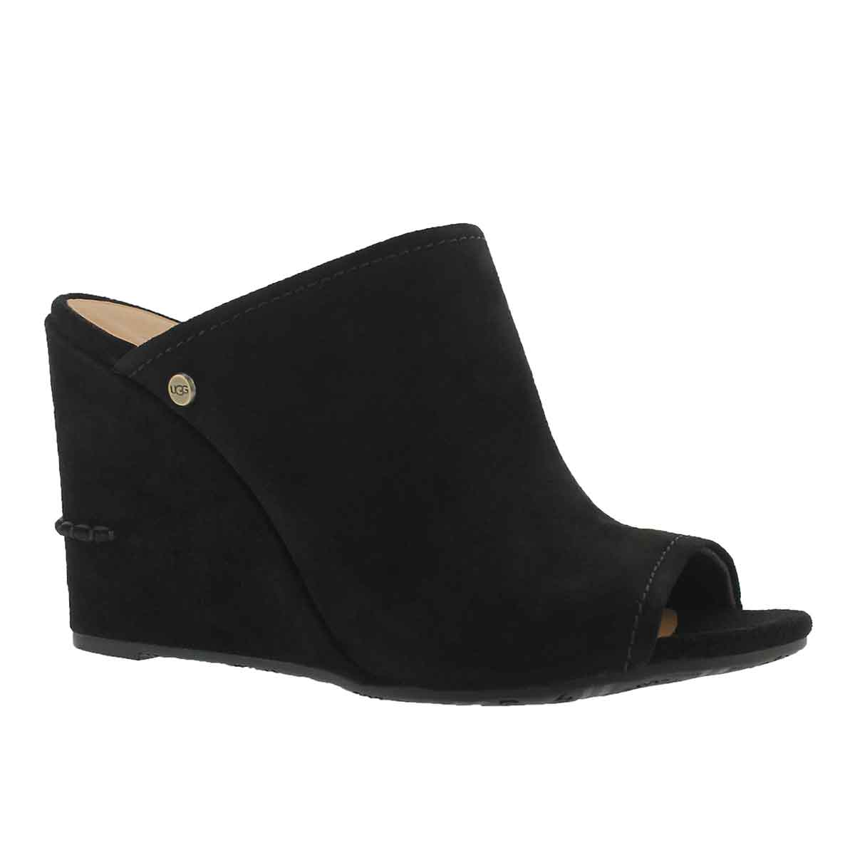 Lds Lively black wedge slide sandal