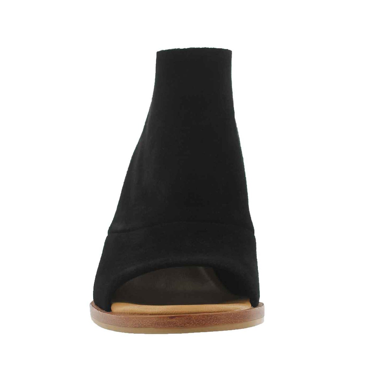 Lds Ginger black peep toe dress heel