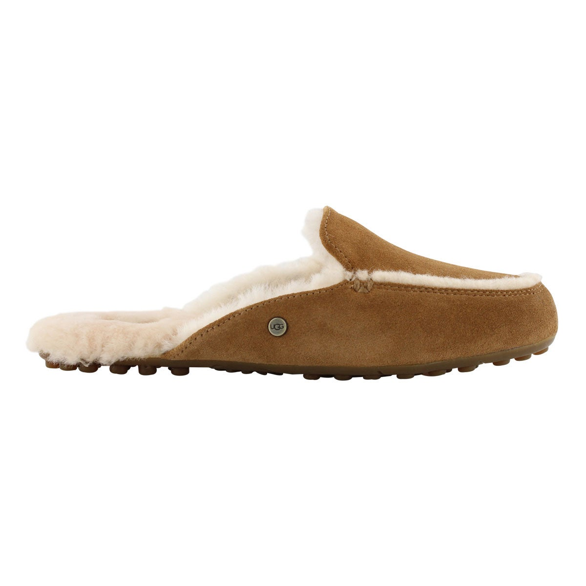 Lds Lane chestnut open back slipper