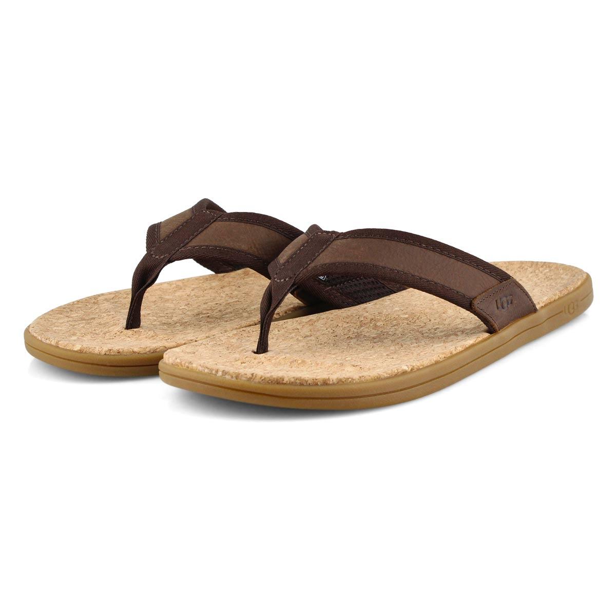 Mns Seaside Flip chestnut thong sandal
