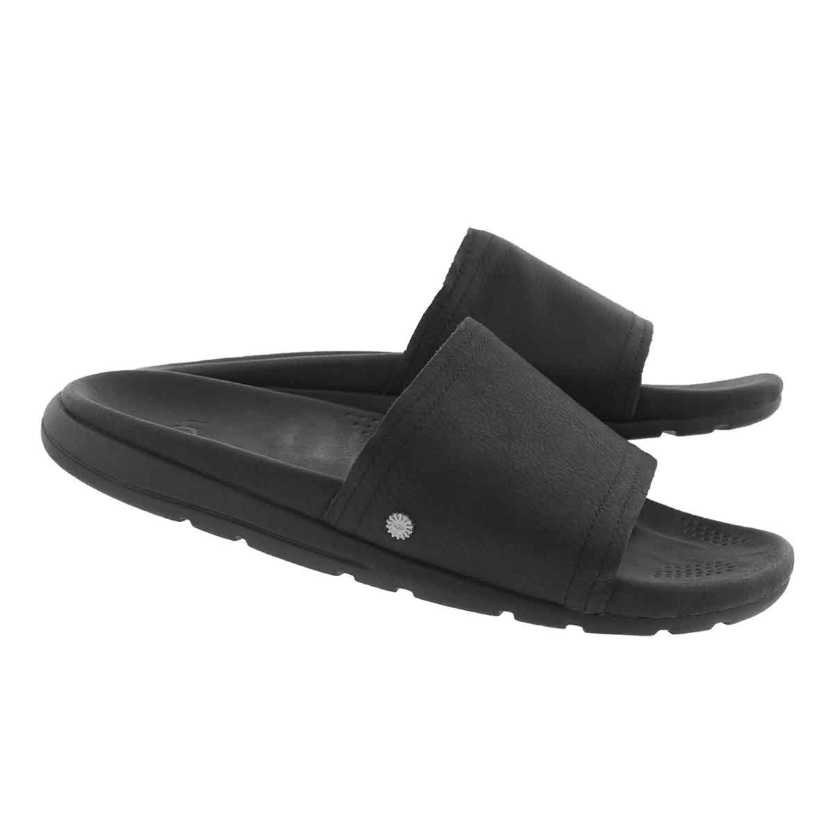 Mns Xavier Luxe blk casual slide sandal