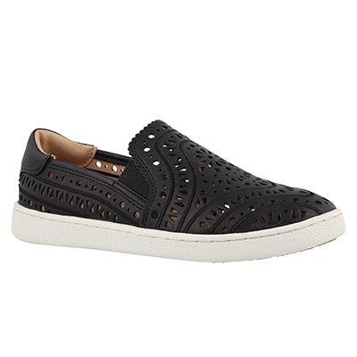 Lds Cas Perf black casual slip on shoe