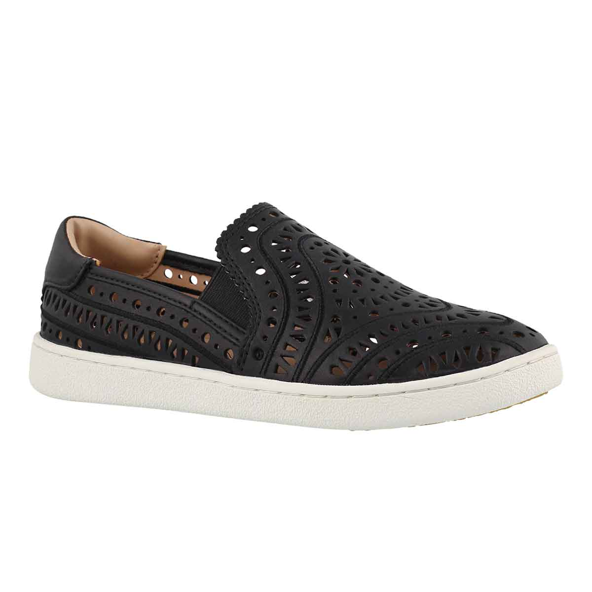 Women's CAS PERF black casual slip on shoes