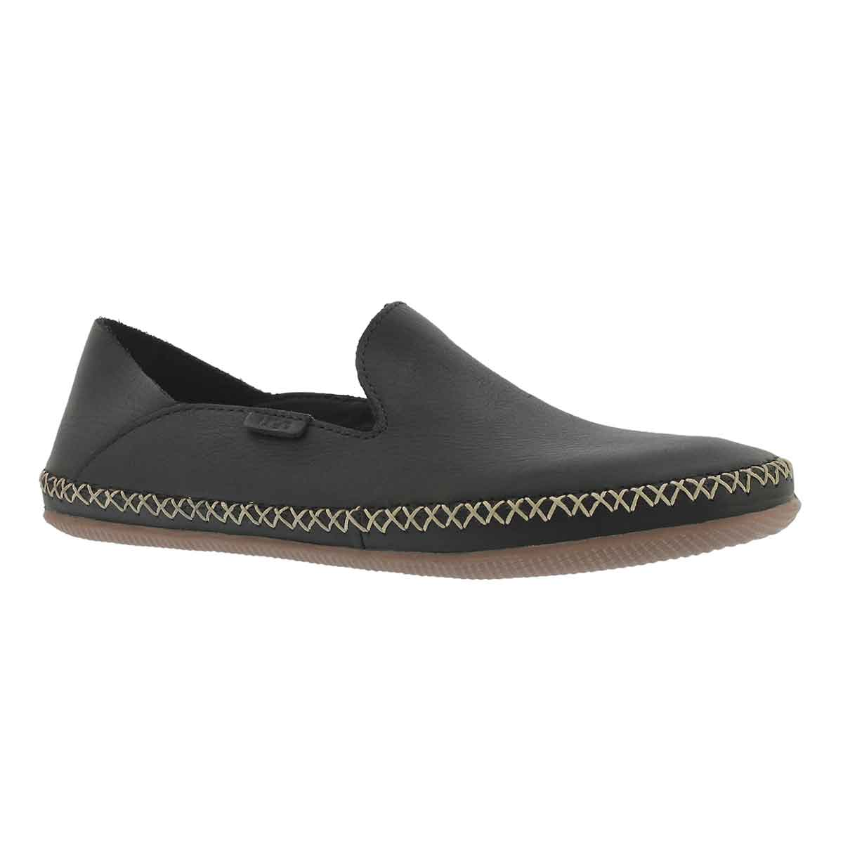 Women's ELODIE black casual slip on shoes