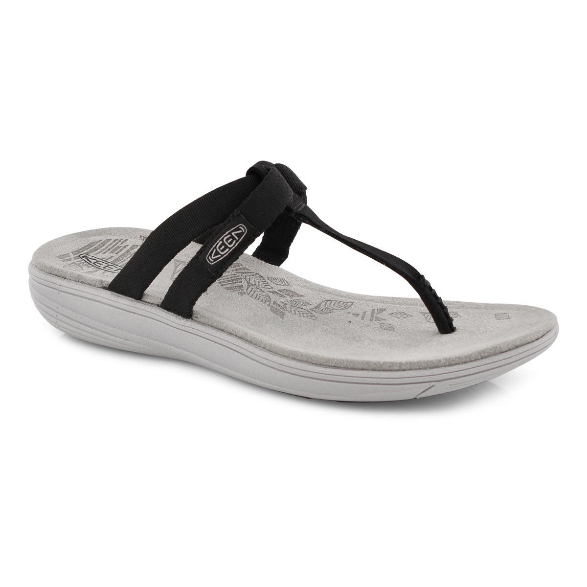 Lds Damaya Flip blk/blu thong sandal