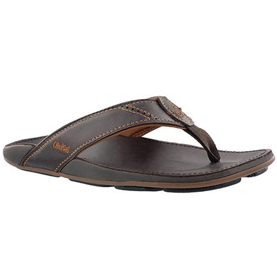 Mns Nui dark java thong sandal