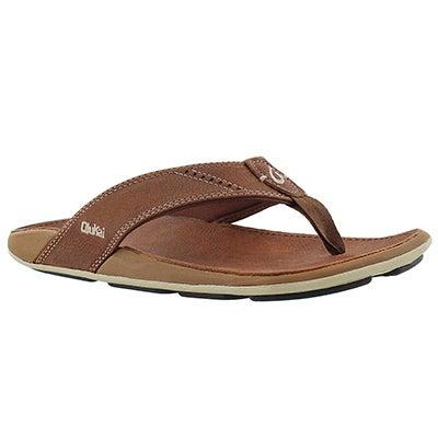 OluKai Men's NUI rum thong sandals