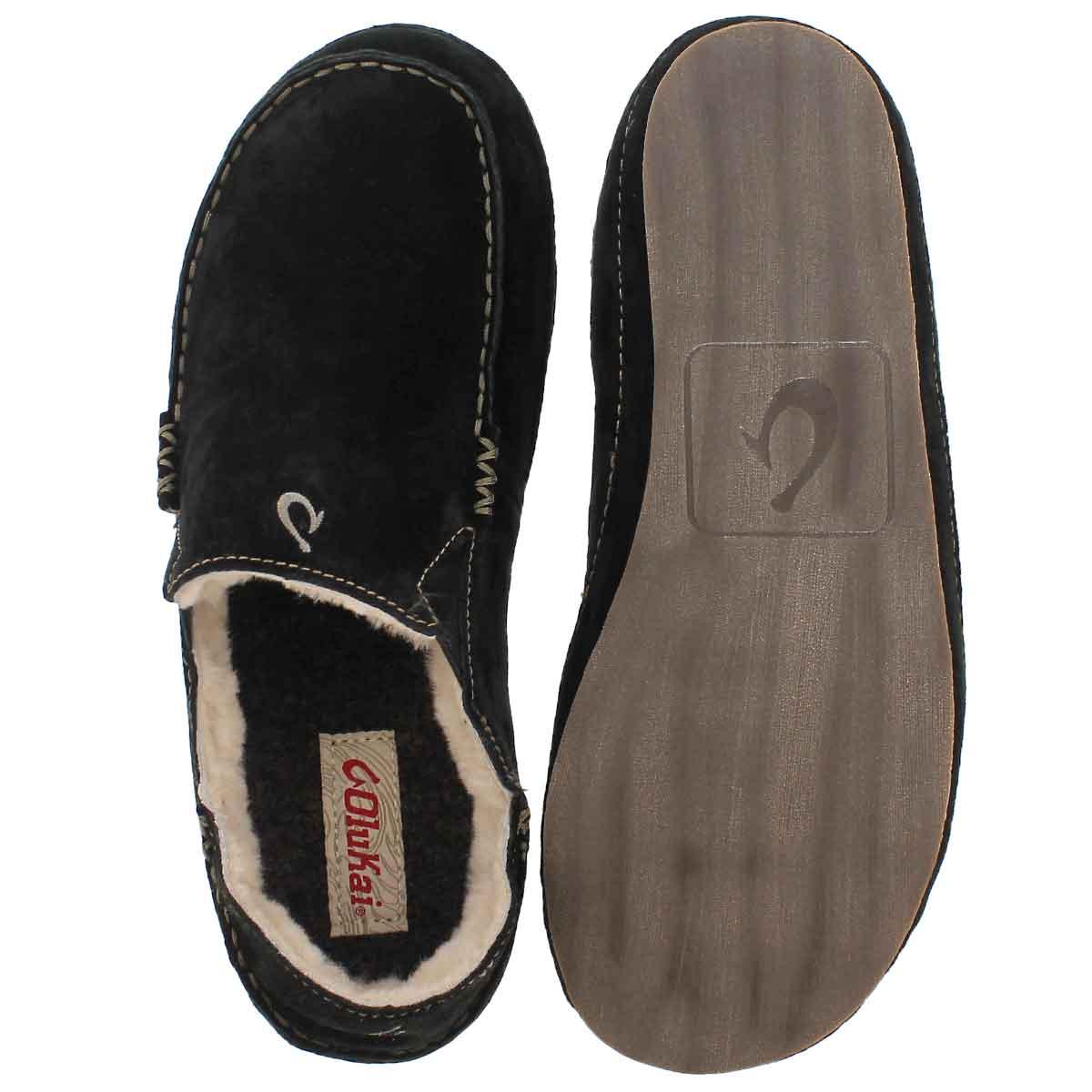 Mns Moloa black drop in heel slipper